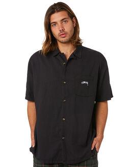 BLACK MENS CLOTHING STUSSY SHIRTS - ST083412BLK