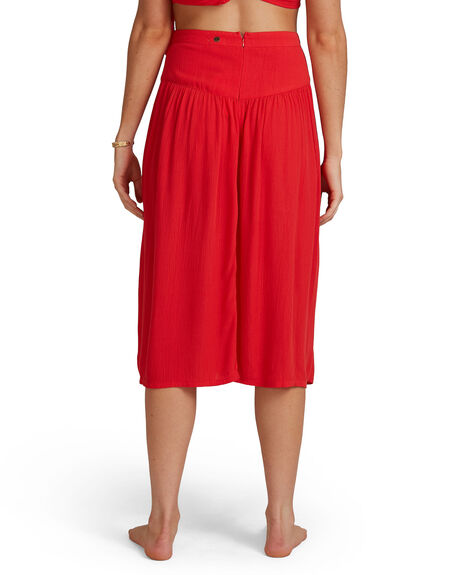 FIESTA RED WOMENS CLOTHING BILLABONG SKIRTS - BB-6504327-FTR
