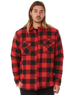 RED MENS CLOTHING DICKIES SHIRTS - K1181105RD