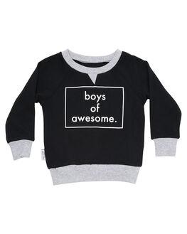 BLACK KIDS TODDLER BOYS TINY TRIBE JUMPERS - TTW18-8011EBLK