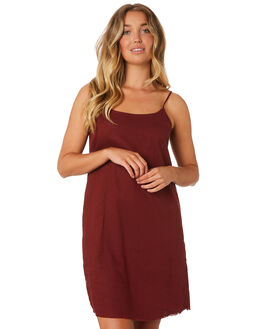 BLOOD RED WOMENS CLOTHING THRILLS DRESSES - WTA9-902HBRED