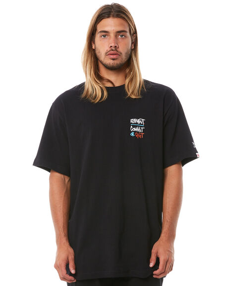 FLINT BLACK MENS CLOTHING ELEMENT TEES - 186022BFBLK