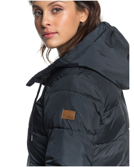 ANTHRACITE WOMENS CLOTHING ROXY JACKETS - ERJJK03362-KVJ0