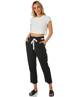 BLACK WOMENS CLOTHING ELWOOD PANTS - W01609BLK