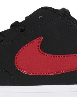 BLACK RED WOMENS FOOTWEAR NIKE SNEAKERS - SS880266-006W