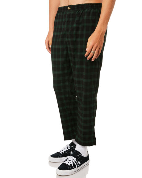 GREEN BLACK MENS CLOTHING STUSSY PANTS - ST095608GRNBLK