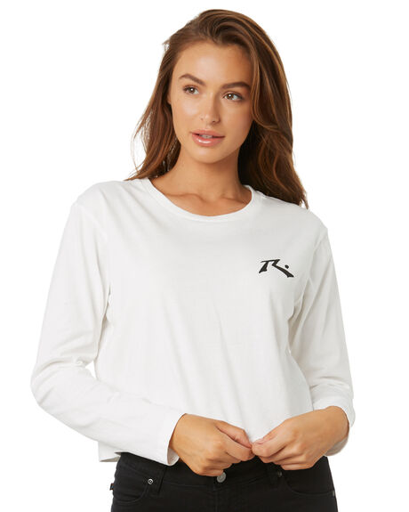 BRIGHT WHITE WOMENS CLOTHING RUSTY TEES - TTL1081BTW