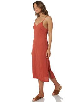 RUST WOMENS CLOTHING RHYTHM DRESSES - OCT18W-DR01RUS