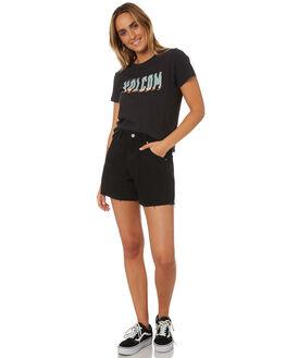 BLACK COMBO WOMENS CLOTHING VOLCOM TEES - B35318V4BLC