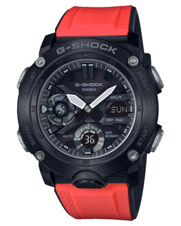 BLACK MENS ACCESSORIES G SHOCK WATCHES - GA-2000E-4DRBLK