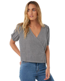 GINGHAM WOMENS CLOTHING THE HIDDEN WAY FASHION TOPS - H8174167GING