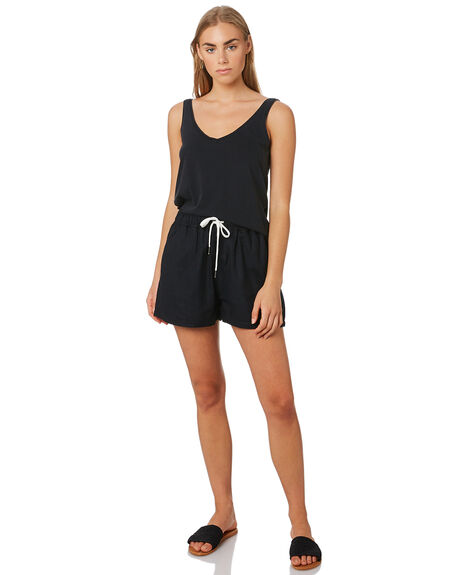 BLACK WOMENS CLOTHING SILENT THEORY SINGLETS - 6008000BLK