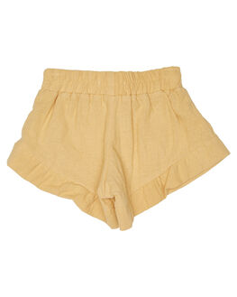 LINEN OLD GOLD KIDS GIRLS SWEET CHILD OF MINE SHORTS + SKIRTS - SP18BELLASHRTGLD