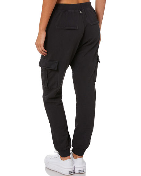 WASHED BLACK WOMENS CLOTHING ALL ABOUT EVE PANTS - 6453047WBLK