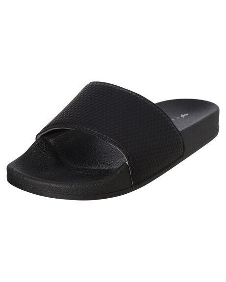 BLACK GEO WOMENS FOOTWEAR RUSTY SLIDES - FOL0194GBK