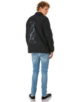BLACK MENS CLOTHING ADELIO JACKETS - CWCJBLK