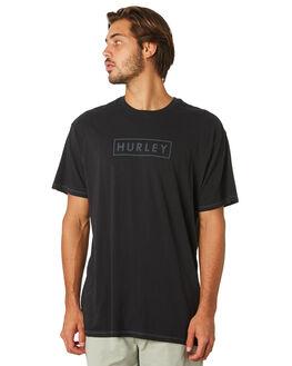 BLACK MENS CLOTHING HURLEY TEES - BQ0112010