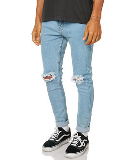 STONE BLUE MENS CLOTHING AFENDS JEANS - 12-05-001STNBL