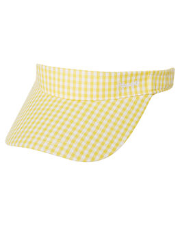 GINGHAM YELLOW WOMENS ACCESSORIES AFENDS HEADWEAR - A184612GNG