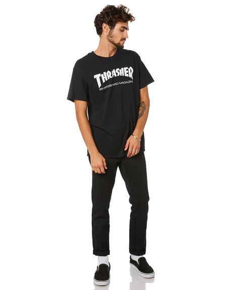 BLACK MENS CLOTHING THRASHER TEES - 311027BLK
