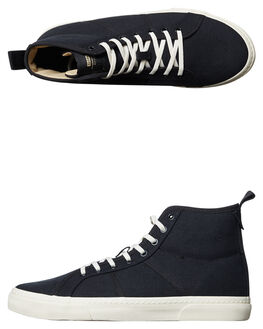 BLACK WHITE MENS FOOTWEAR GLOBE HI TOPS - GBLAII-10145