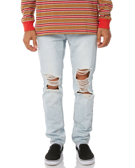 FRIDAY BLUE TRASHED OUTLET MENS INSIGHT JEANS - 5000002013FRITR