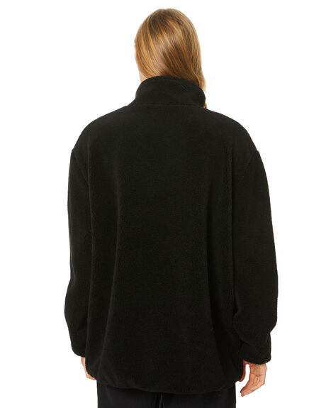 BLACK WOMENS CLOTHING STUSSY JUMPERS - ST106704BLK