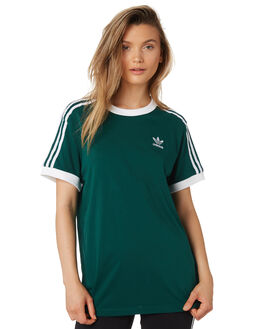 COLLEGIATE GREEN WOMENS CLOTHING ADIDAS TEES - DV2590GRN
