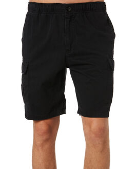 BLACK MENS CLOTHING RUSTY SHORTS - WKM0918BLK