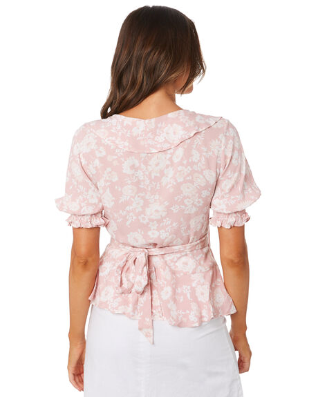 LOVERS FLORAL WOMENS CLOTHING THE HIDDEN WAY FASHION TOPS - H8202271LOVFL