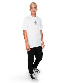 WHITE MENS CLOTHING ELEMENT TEES - EL-194019-WHT