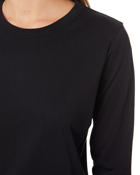 BLACK WOMENS CLOTHING NUDE LUCY TEES - NU23034BLK