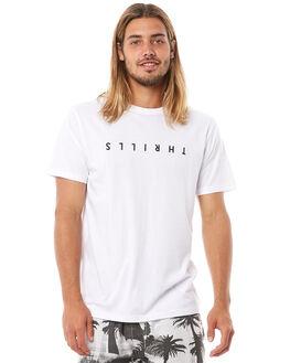 WHITE MENS CLOTHING THRILLS TEES - TH8-141AWHT