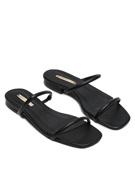 BLACK WOMENS FOOTWEAR BILLINI SLIDES - S703BLK