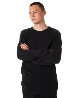 BLACK MENS CLOTHING GLOBE KNITS + CARDIGANS - GB01733020BLK