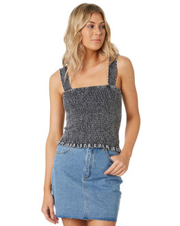 NAVY WOMENS CLOTHING ALL ABOUT EVE SINGLETS - 6444044NVY
