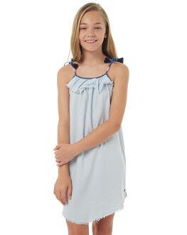 LIGHT BLUE KIDS GIRLS EVES SISTER DRESSES - 9900050LBLU