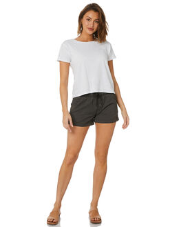 BLACK WOMENS CLOTHING SWELL SHORTS - S8173231BLK