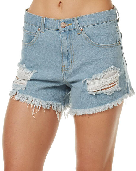 STONE BLUE WOMENS CLOTHING AFENDS SHORTS - 52-01-074STB
