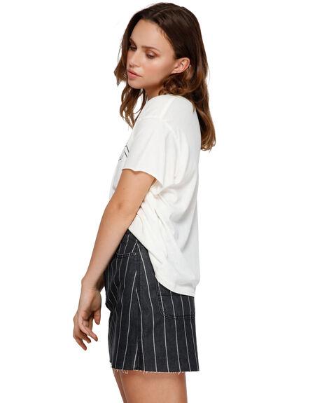 BLACK STRIPE WOMENS CLOTHING RVCA SKIRTS - RV-R491832-BAJ