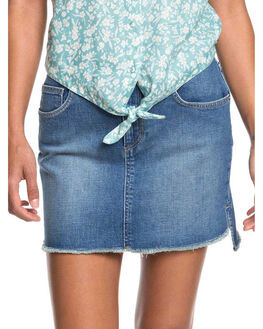 MEDIUM BLUE WOMENS CLOTHING ROXY SKIRTS - ERJDK03016-BMTW