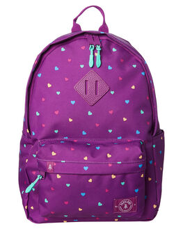CANDY HEARTS PURPLE KIDS GIRLS PARKLAND BAGS + BACKPACKS - 20008-00241CNDY