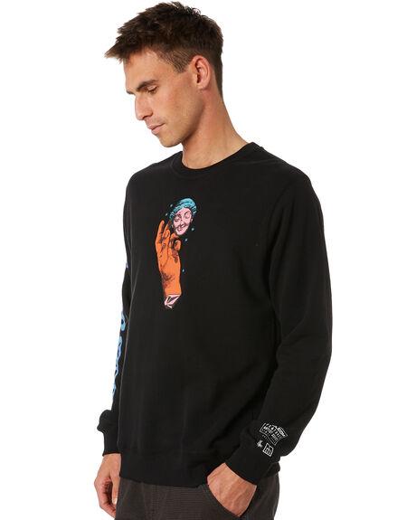 BLACK MENS CLOTHING VOLCOM JUMPERS - A4632006BLK