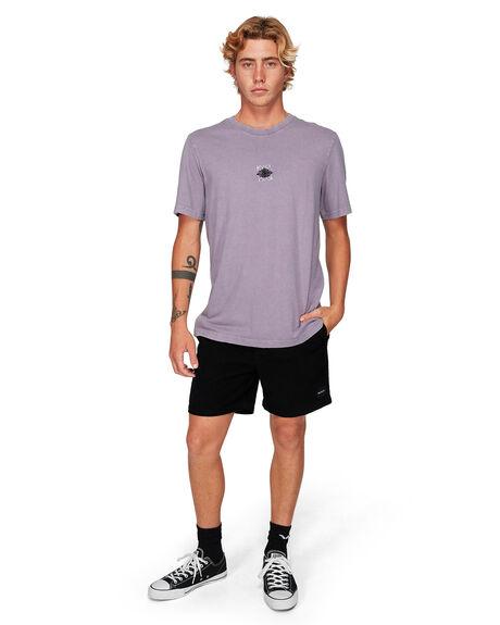 PURPLE JADE MENS CLOTHING RVCA TEES - RV-R192053-PUJ