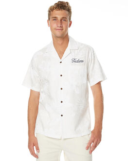 WHITE FLOWER MENS CLOTHING FEAT SHIRTS - FTSBOW01WFLR