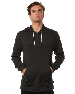 BLACK MENS CLOTHING HURLEY KNITS + CARDIGANS - AMKNLE2BLK