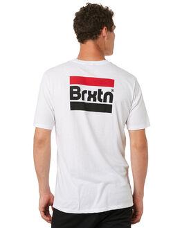 WHITE MENS CLOTHING BRIXTON TEES - 06922WHITE