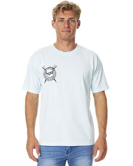 PALE DOT BLUE MENS CLOTHING BROTHERS MARSHALL TEES - 1004-451PDBLU