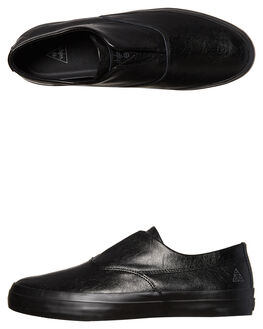 BLACK MENS FOOTWEAR HUF SLIP ONS - VC00009BLK