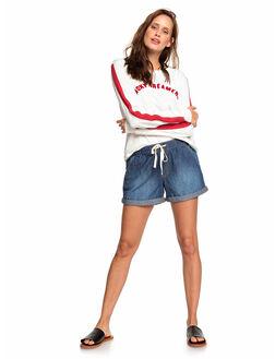 DARK INDIGO WOMENS CLOTHING ROXY SHORTS - ERJDS03209-BYJ0